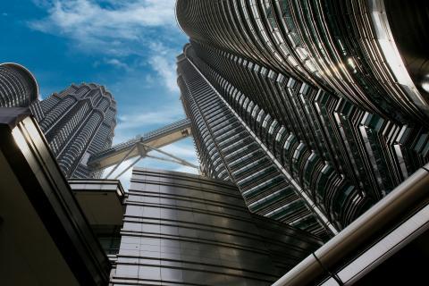 Gigantische Twin-Tower in Kuala Lumpur
