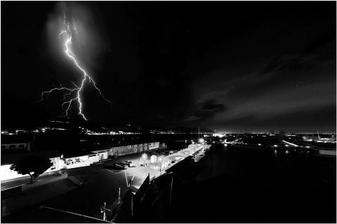 Gewitter über Kapstadt