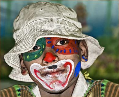 kleiner indischer Clown