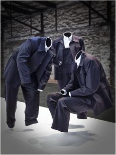 konspiratives Treffen der Blaumänner