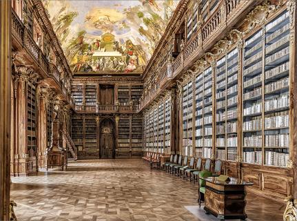 Bibliothek im Kloster Strahov_2.2/Querformat