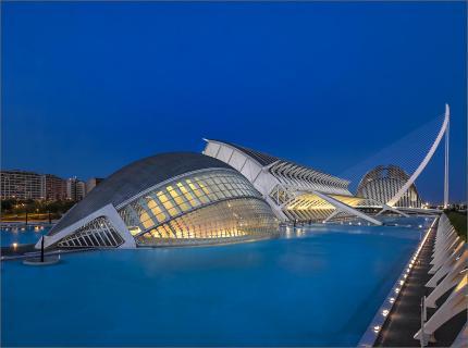 Calatrava und die blaue Stunde