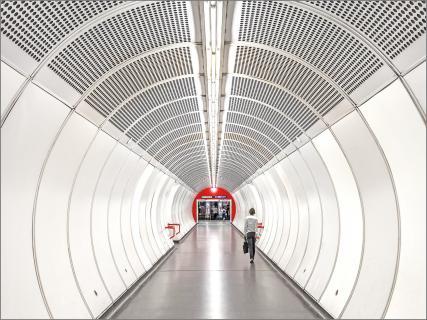 Im U-Bahn-Tunnel