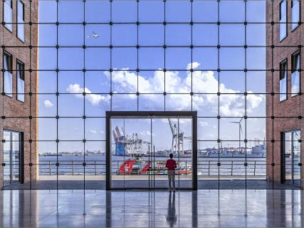 Blick auf den Hamburger Hafen