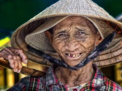Gütiges Lächeln