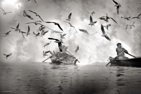 Früh Morgens am Ganges