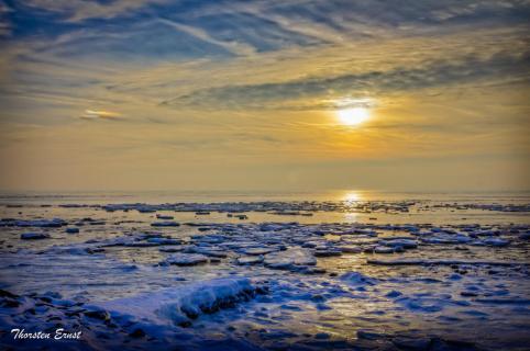 Eiskaltes Wattenmeer