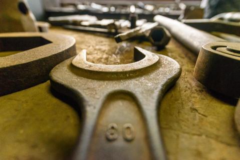 Zeche Zollverein_80er Schlüssel ganz nah