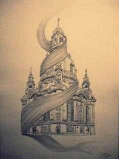 Graphity - Frauenkirche Dresden