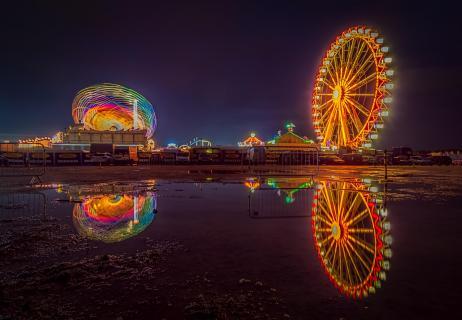 Auf dem Frühlingsfest - München bei Nacht