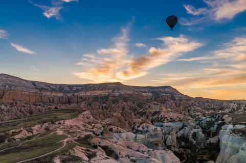 Sonnenaufgang über Kappadokien