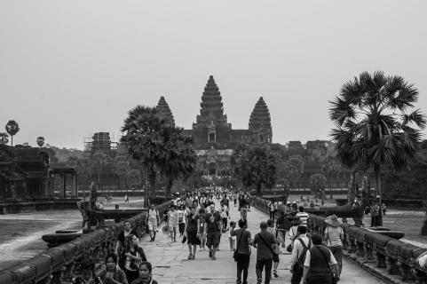 Überlaufender Tempel