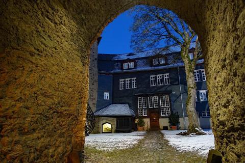 2017 Oberes Schloss Siegen, der Hof