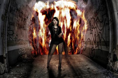 Bella on Fire