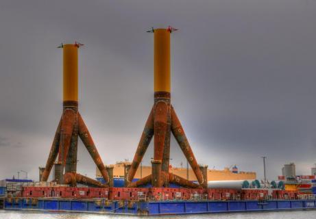 Offshoregiganten in Bremerhaven