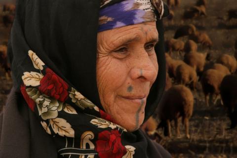 Alte Beduinin