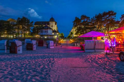 Nachtleben am Ostseestrand