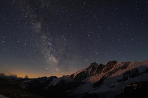 Die Milchstraße und der Großglockner