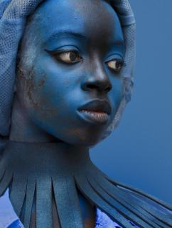 blaue Dame