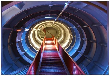 im Inneren des Atomiums