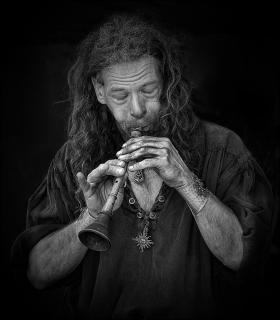 mittelalterliche Flöte