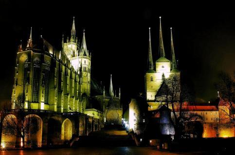 Nachtglanz Domberg Erfurt