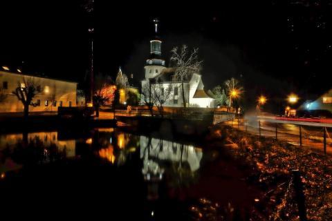 Weihnachtslichter - Dorfkirche Gera - Trebnitz i