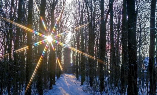 Wintersonnenaufgang im Februar