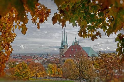 Herbstgoldrahmen - Dom und Altstadt Erfurt