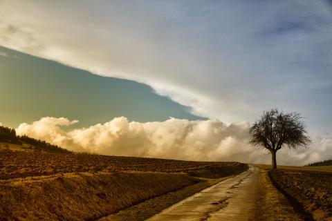 Weg zu den Wolken