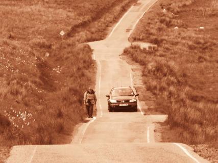 Straße in Sepia