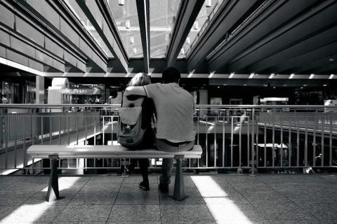 Streetfotografie Bahnhof Bern