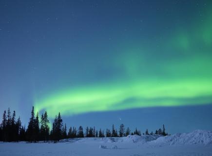 Winterlandschaft im Nordlicht