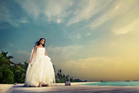 Bridal Portrait on the Maldives