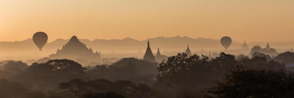 Sonnenaufgang in Bagan (Myanmar)