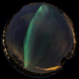 Polarlicht-Selfie mit Fisheye