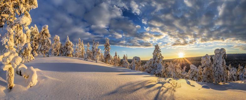 Sunset over Lapland