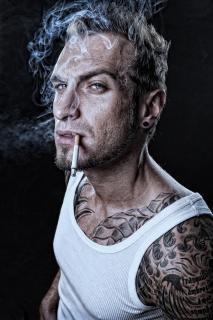 tattooed smoking