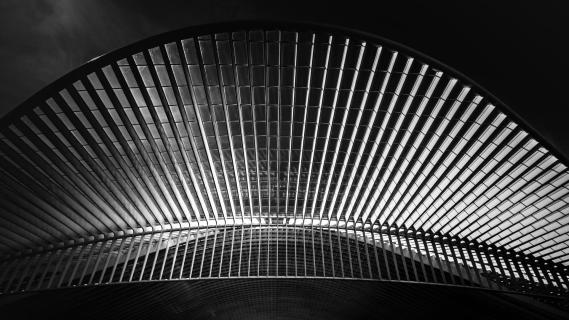 Abstract railway station