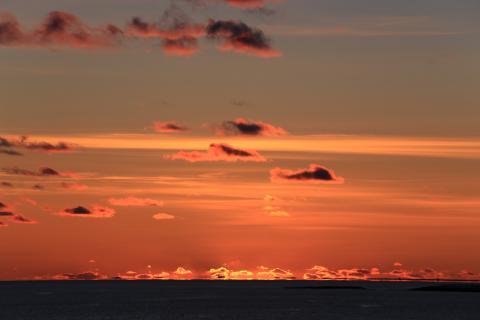 Nach Sonnenuntergang in der Barentssee