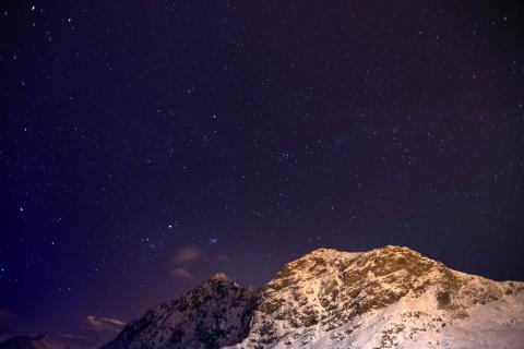Sternenhimmel über Stamsund