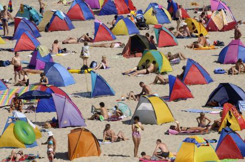 Strandleben in Sellin