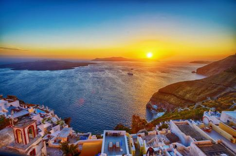 Sonnenuntergang in Fira 2