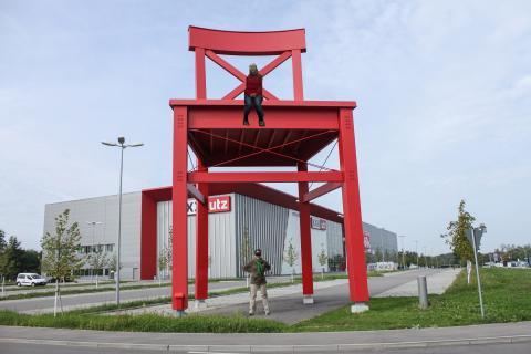 Der rote Stuhl...