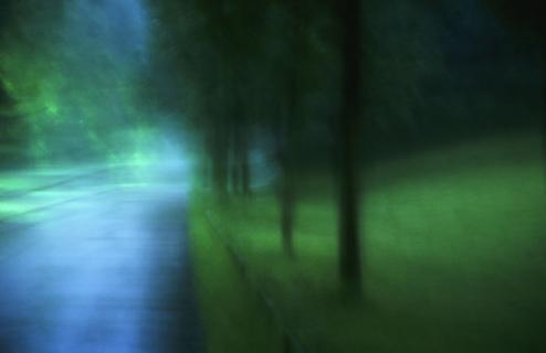 Geisterlicht im Park