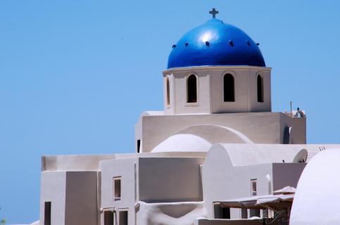 Orthodoxe griechische Kirche in Fira