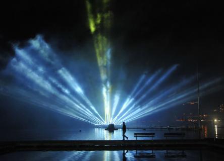 Laserlicht-Show