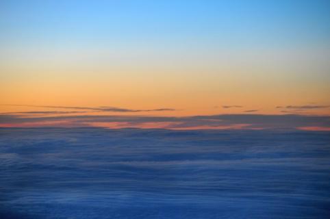 Blaue Wolken über der Nordsee