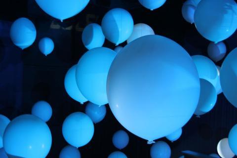 Blaue Ballons