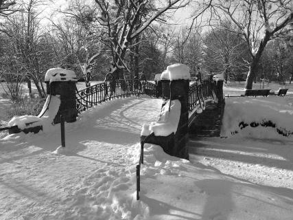 Maschpark im Winter
